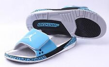 NEW NIKE Air Jordan 3 HYDRO Slide Slipper SZ 9-13 Blue/Black/White RETRO Shoes