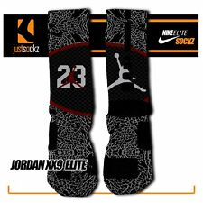 JORDAN XX9 Custom Nike Elite Socks basketball chicago bulls jordan black red 23