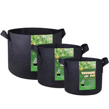 Fabric Grow Bag Plant Root Pouch Breathable Pot 1,2,3,5,7,10,15,20,25,30 Gallon