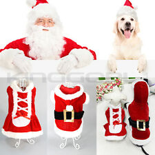 SMALL DOG PUPPY CHRISTMAS CLOTHES PET SANTA CLAUSE BELT COSTUME APPRAREL GIFT UK