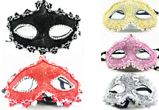 White  masquerade eye mask fancy dress festival party for ladies