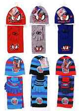 Brand New Boys Kids Spiderman Winter Hat, Gloves And Scarf 3 Piece Set
