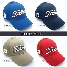 2015 Titleist Golf Fitted Sports Mesh Cap/Hat/Headwear - Royal, Navy, Khaki, Red