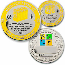 500 Finds Geo-Achievement geocoin geopin milestone Geo-Award geocaching