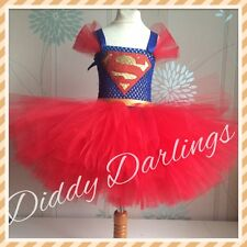 Superman Tutu Dress Party Fancy Dress Christmas Play New Supergirl Tutu Dress