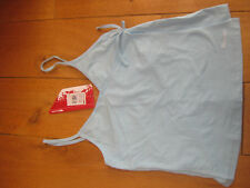 TRESPASS ASTORIA pale blue or taupe wrap over jersey vest top XS S M XL bnwt