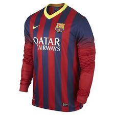 NIKE FC BARCELONA LONG SLEEVE HOME JERSEY 2013/14 FOOTBALL LA LIGA SPAIN.