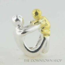 Sterling Silver European 925 Charm Paternity Father Dad w/ Baby Bead 99105