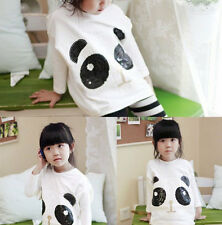 Newest Cheap Kids Toddler Clothes Girl Spring&Fall Panda T-shirt Tops Sz 3-8Y