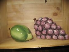 Tabletops Unlimited hand painted grapes or lime Fruition Great Price!