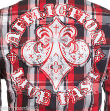 AFFLICTION Mens Embroidered Button Down Shirt FIREFLY Roar BKE UFC S-3XL $78