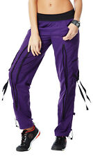 Authentic New Zumba Craveworthy Zip Cargo Pants - Purple  ~~All Sizes ~~  NWT