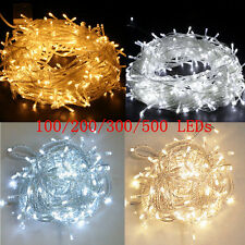 100/200/300/500 LED String Fairy Lights Indoor/Outdoor Xmas Christmas Party