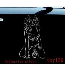 Sexy belle beauty woman/ funny Vinyl Car  Window  Wall Sticker Decal Decals