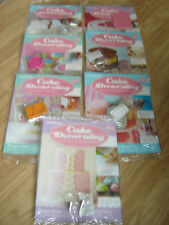 CAKE DECORATING MAGAZINES VARIOUS ISSUES WITH FREE GIFT BY DEAGOSTINI