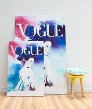 Stretched Canvas Watercolour Wall Art Print 3 Large Szs Vogue Cover Hwang Jini