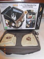 Pet Store 3-in-1 Booster, Car Seat, and Carrier for Pets DOG & CATS Two Sizes.