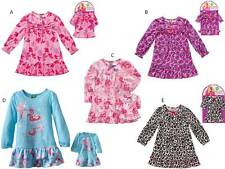 "Dollie & Me Sz 4 5 6 7 8 girl & 18"" doll matching Pajama set fits american girls"