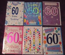 60th BIRTHDAY CARD  MALE / FEMALE CHOOSE - LOVELY QUALITY CARDS