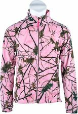 Ladies Women Semi Fitted Fleece Jacket CAMO/Birch -Pink -Purple -Rose CAMOUFLAGE