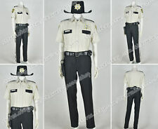 The Walking Dead Cosplay Sheriff Rick Grimes Costume Uniform Popular Outfit Suit