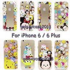 Ultra Thin Disney Cartoon Minions Clear Rigid PC Back Case For iPhone 6 / 6 Plus