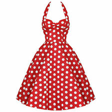 Hell Bunny 50's Meriam Red & White Polka Dot Rockabilly Dress