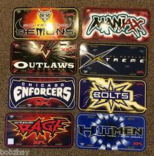 XFL Football Graphic Plastic License Plate League Wincraft Sports Xtreme