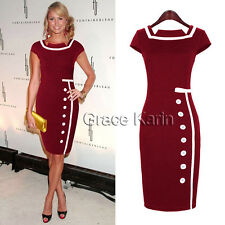Stunning 50s 60s Vintage Sexy Women Pinup Rockabilly Cocktail Party Pencil Dress