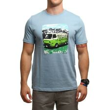 Animal Mens Loverns Short Sleeved T Shirt in Steel Blue and Teal