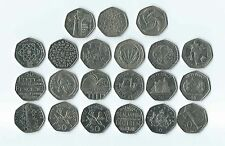 Various Great Britain 50p coins fifty pence comemorative