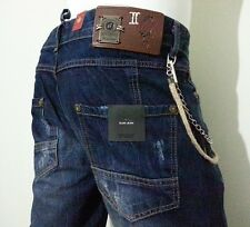 DSQUARED2 MAN JEANS DARK BLUE ROSARY&CHAIN acc. w:31-32-33-34  model: 3501