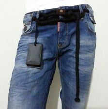 DSQUARED2 MAN JEANS BLUE DSQ with ROPE ACC.  w:30-31-32-33-34-36-38  model: 3536