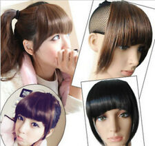 womens Clip On Clip In Front Hair Bang Fringe Hair Extension Straight