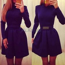 XD#3 New Sexy Women Casual Long Sleeve Bodycon Evening Cocktail Party Mini Dress
