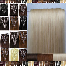 True Grade AAA 100% Real Good Clip In Remy Human Hair Extensions Full Head F347