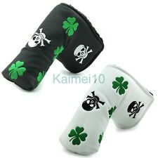 Skull Clover Putter Cover Headcover For Titlist Scotty Cameron Ping Anser Blade