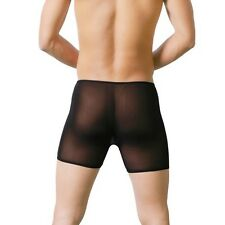 100% Spandex Designed Men's Transparent Underwear Sleep Wear Shorts Soft Bottoms