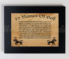 """ 72 Names of God "" Strong Talisman Amulet Kabbalah Print Frame A4 , 72 deus"