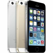 Apple iPhone 5s (Factory Unlocked CDMA & GSM) Gray Silver Gold 32GB 64GB (B)