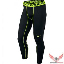 New Mens Nike Pro Combat Core Compression Tights 2.0 Game Black/Volt All Sizes