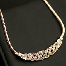 New Fashion Jewelry Crystal Chunky Statement Bib Pendant Chain Choker Necklace