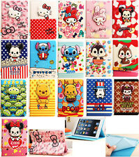 3D Disney Cartoon Cover Leather Stand Cover Case For iPad Air 56 Air2  Mini1/2/3