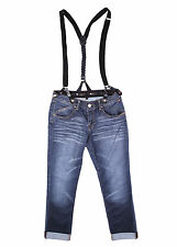 Sexy Womens Boyfriend Jeans Blue Washed Loose Fit Cotton Pant Size 8-14