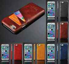 Luxury PU Leather Ultra Thin Credit Card Holder Back Cover Case Fr iPhone 5 6 6+