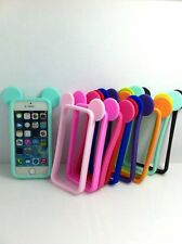Hot Sale Lovely  Mouse Ears Silicone Soft Frame Bumper Case for iPhone5/5s