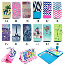 New Fashion Leather Wallet Card Slots Stand Flip Cover Case for Samsung Galaxy