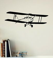 Wall Decal Airplane Aviation Kids Boys Room Decor Stickers Art Mural (ig2524)