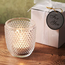 96 Clear Hobnail Glass Tea Light Candle Holder Birthday Bridal Wedding Favor