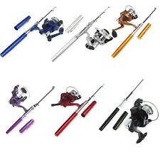 Mini Telescopic Portable Pocket Aluminum Pen Fishing Tackle Rod Pole Reel Tool
